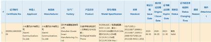 一款疑似為RedmiK40的新機獲得3C認證 搭載聯發科天璣1000及33W快充