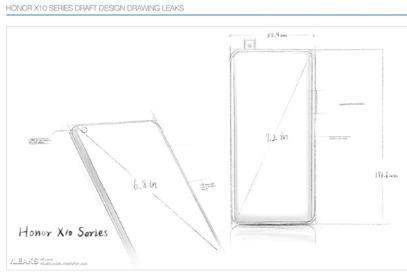 榮耀X10 Max設計圖已曝光 是2020年唯一的5G大屏手機